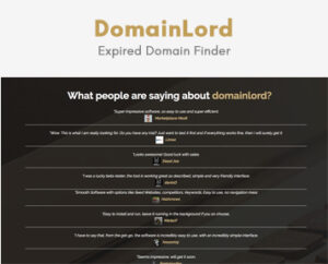 DomainLord (Expired Domain Finder)