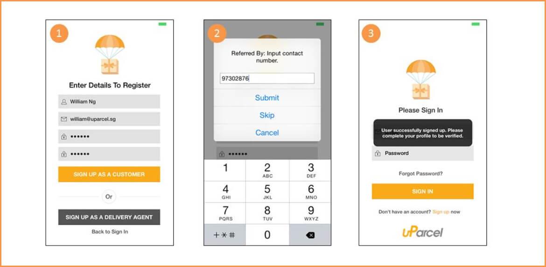 UParcel (Parcel Delivery App)